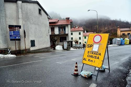 La frana sulla traversa di Pracchia foto di Stefano Di Cecio