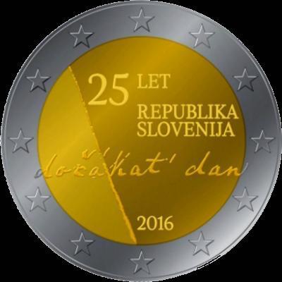 2 Euro Slovinsko 2016, nezávislosť Slovinska
