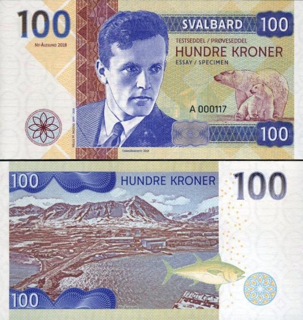 Svalbard (Špicbergy - Nórsko) 100 kroner 2018