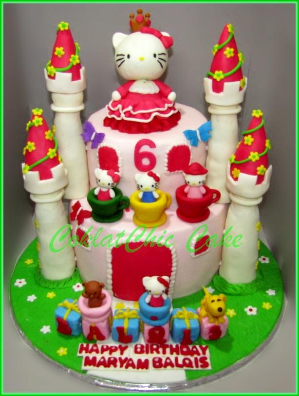 Cake Hello Kitty Castle MARYAM 15 cm dan 12 cm