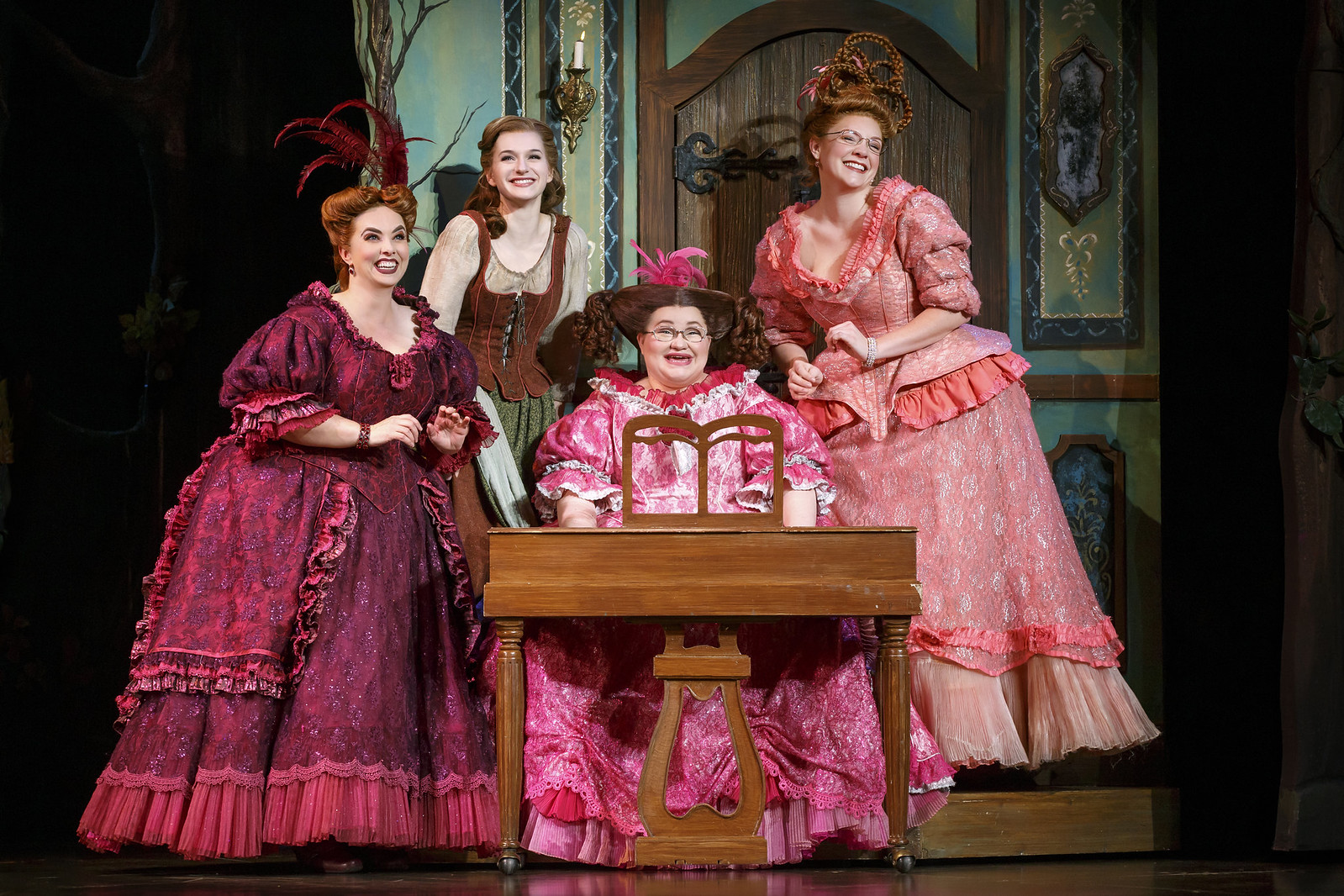 Sarah Smith, Tatyana Lubov, Joanna Johnson, and Nicole Zelka in Rodgers + Hammerstein's Cinderella. Photo: © Carol Rosegg // Broadway In Detroit: Rodgers + Hammerstein's Cinderella At The Fisher Theatre | via Wading in Big Shoes