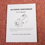 TOMTOP Andoer 4K ビデオカメラ 開封レビュー (16)