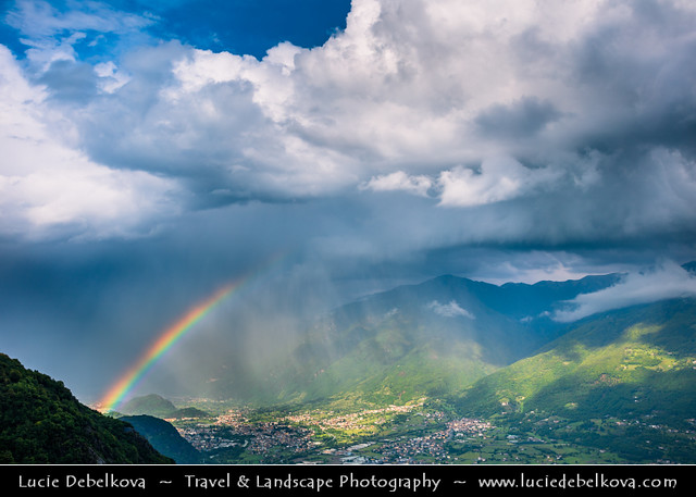 Italy - Alps - Parco dell'Alto Sebino during dramatic storm