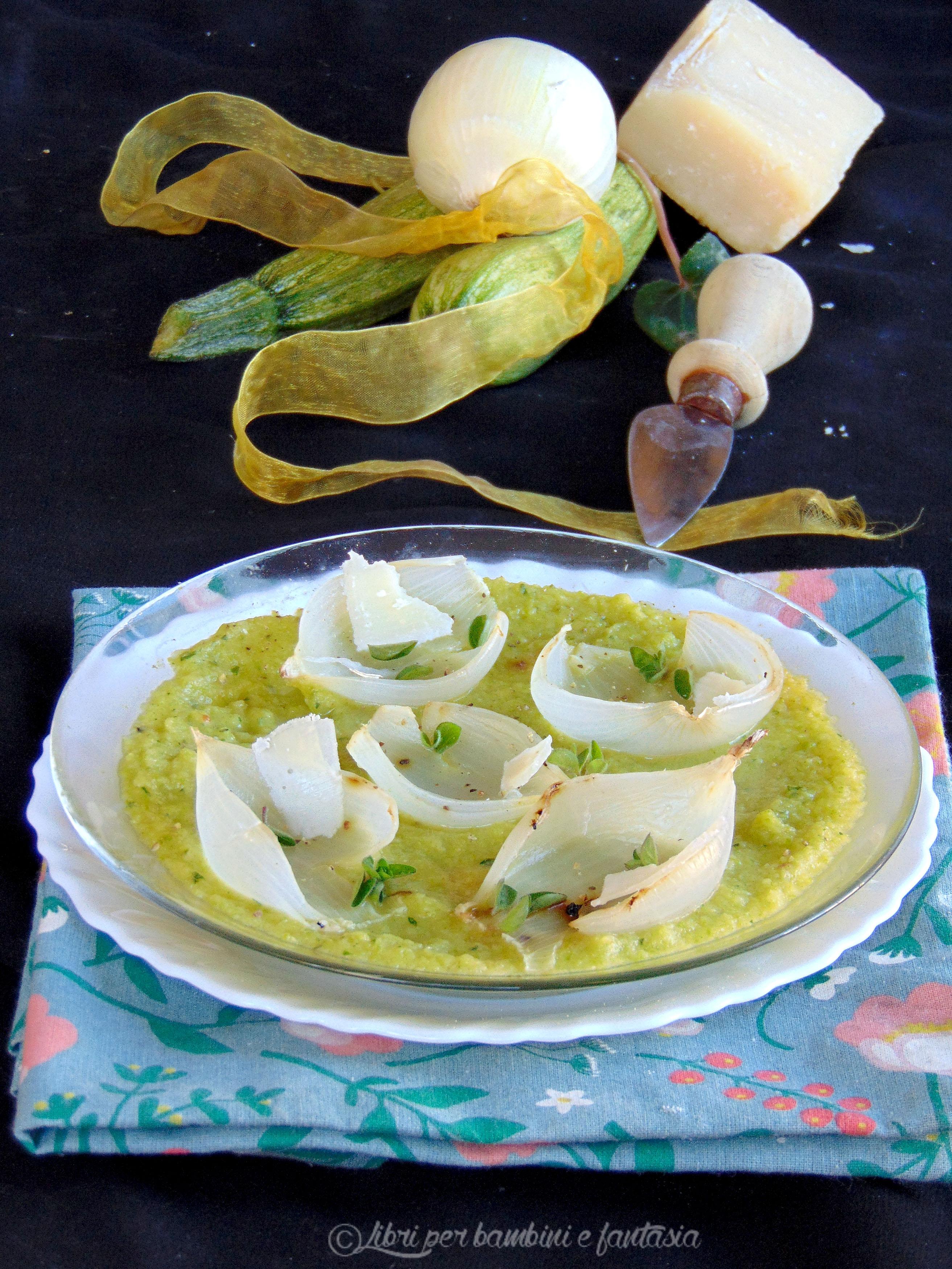 crema di zucchine con cipolle al forno e grana99