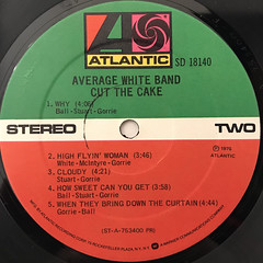 AVERAGE WHITE BAND:CUT THE CAKE(LABEL SIDE-B)