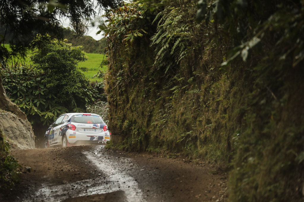 45 MUNNINGS Catie (gbr) STEIN Anne Katharina (deu), Sainteloc junior Team, Peugeot 208 R2, action during the 2018 European Rally Championship ERC Azores rally,  from March 22 to 24, at Ponta Delgada Portugal - Photo DPPI