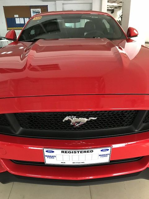 Red Ford Mustang at Makati Ford