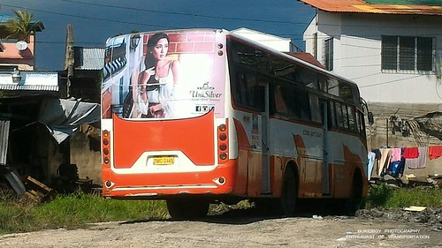 A retired bus at Metro Cebu Auto Bus Garage