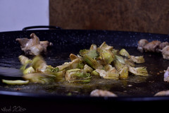 Preparando paella