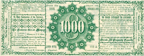 Absolute Money satirical note 1-back