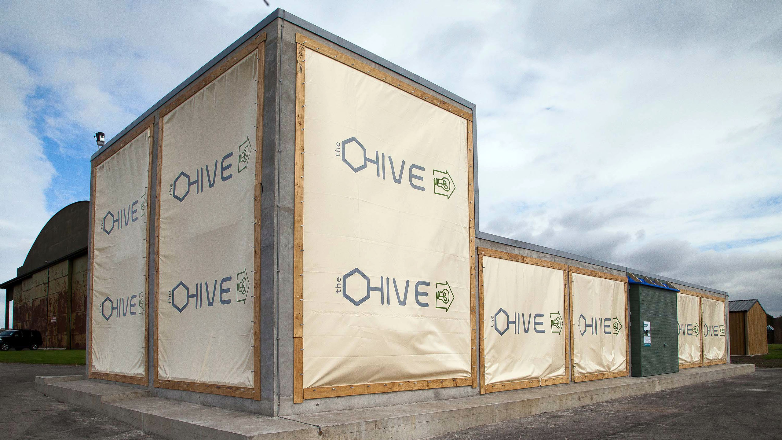 The HIVE facility under construction