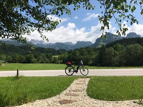E-bike and mountains