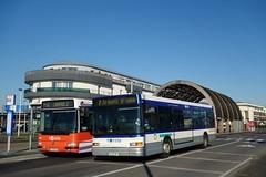 Renault Agora L n°339 & Heuliez Bus GX 317 n°127  -  Caen, TWISTO