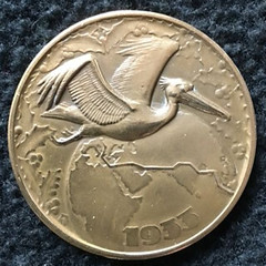 1933 Christmas flight of de Pelikaan Medal obverse