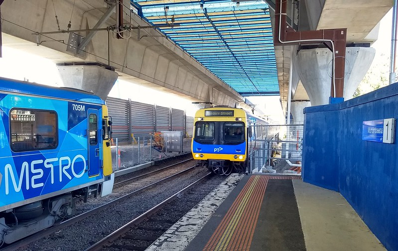 Murrumbeena Station under construction