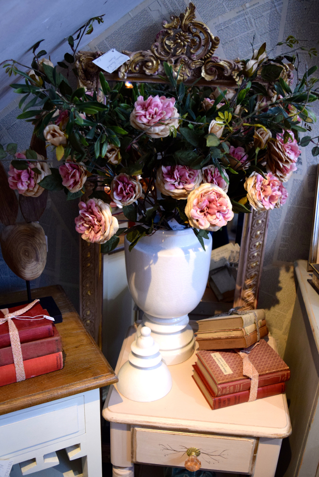 Silk Roses at Queen Bee Home