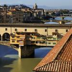 Florence panorama from balcony of Uffizi.
