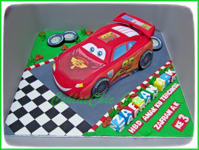 Cake Lightning McQueen ZAFRAN 24 cm
