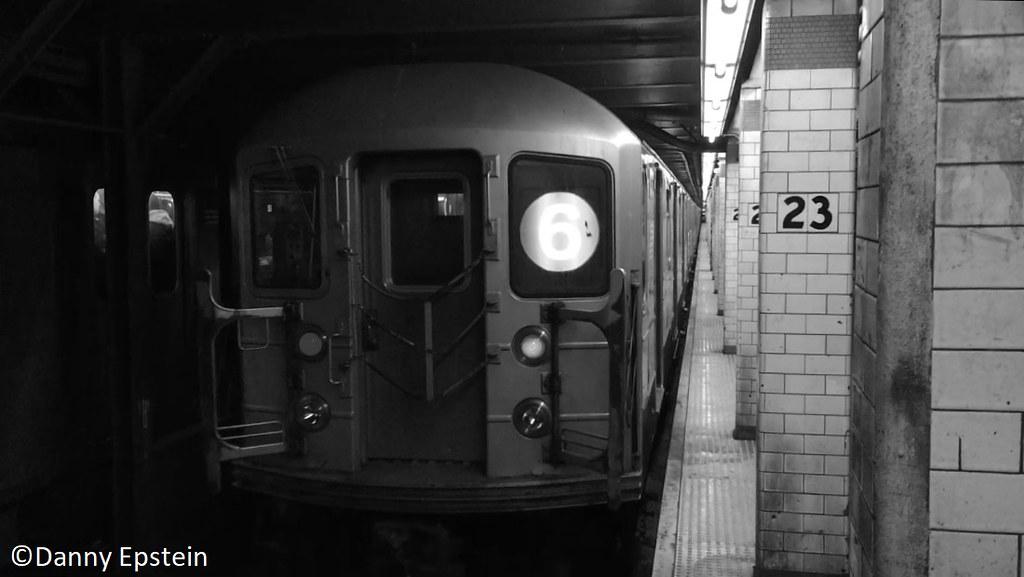 R-62a (6) train at 23rd street