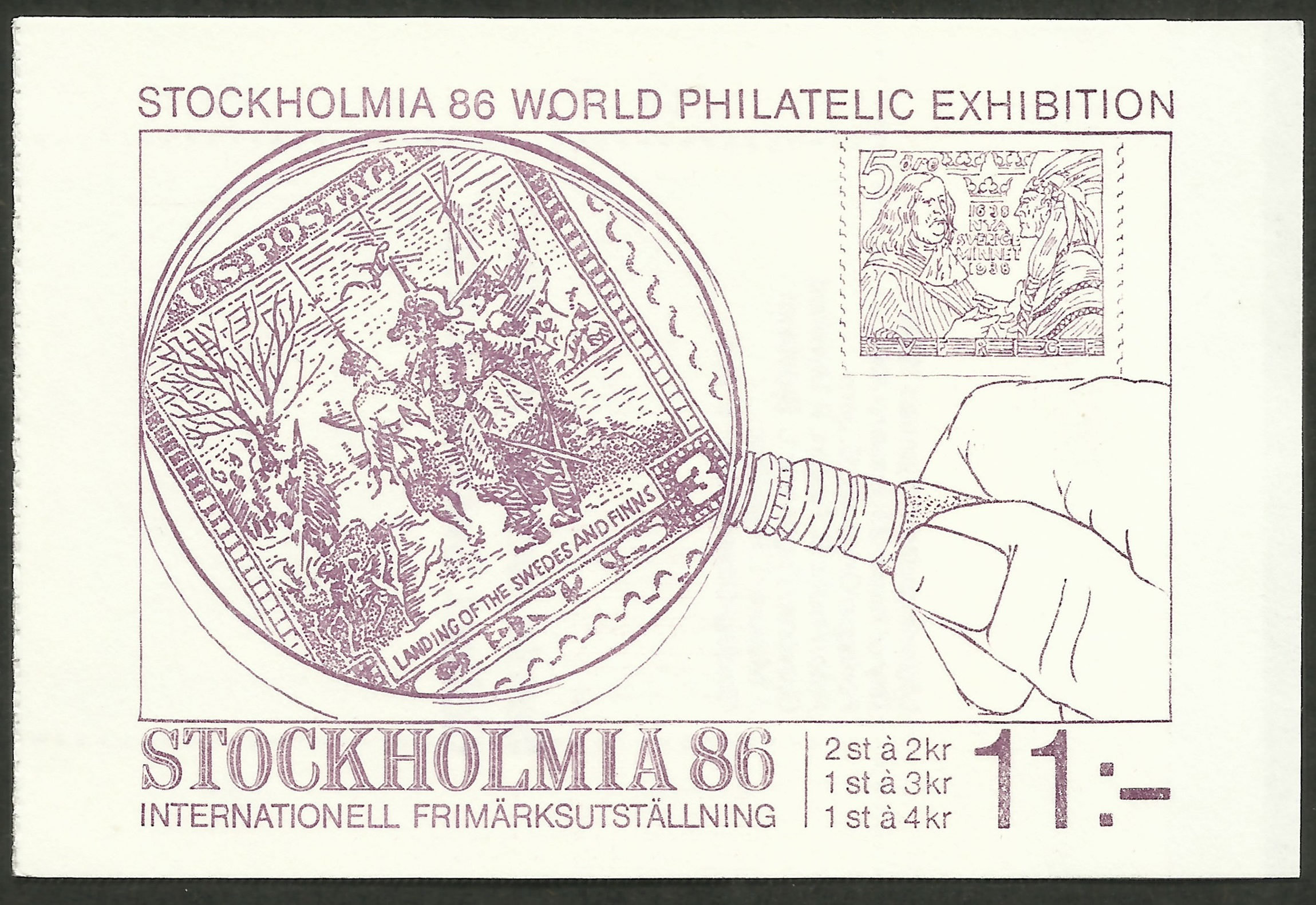 Booklet cover for the 1986 Sweden stamp collecting issue