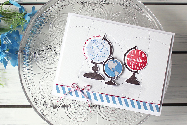 LizzieJones_PapertreyInk_March2018_Glorious Globes_Let_The_Adventure_Begin_Card_1