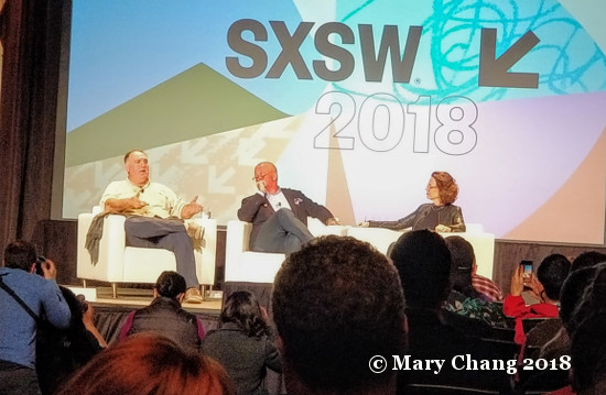 Chefs Jose Andres and Andrew Zimmern at SXSW 2018