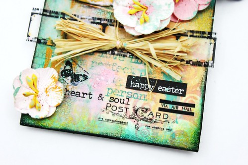 Meihsia Liu Simply Paper Crafts Mixed Media Tag Spring Simon Says Stamp Tim Holtz Prima Flowers 4