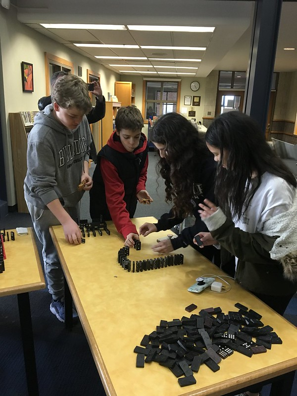 Domino Rally in the Library