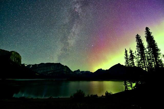 Milky Way upper Kananaskis Lake