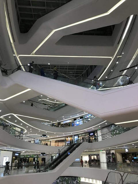 Podium Mall,  escalators