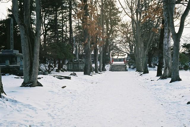 A snow road