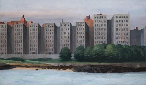 Edward Hopper, Apartment Houses, East River, c. 1930 1/15/18 #whitneymuseum