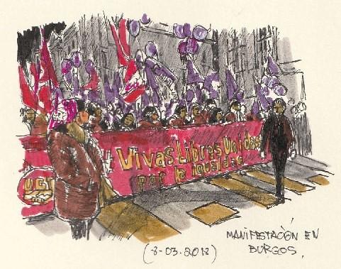 Manifestación 8 de mayo 2018 en Burgos