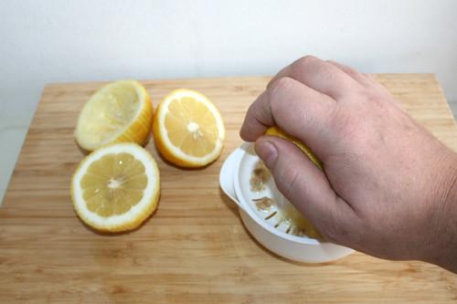 10 - Zitronen auspressen / Squeeze lemons