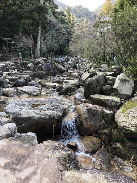 Waterfalls on hike of Mt. Misen