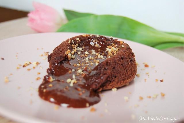 Coulant chocolat sans gluten sans lactose