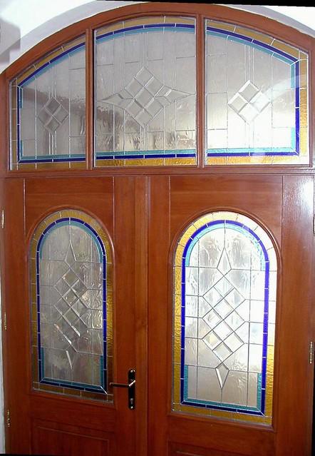 secesní vitráž