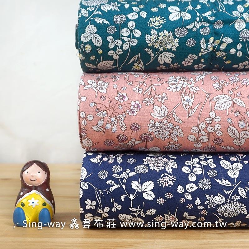春天氣息 優雅花園花卉 手工藝DIy拼布布料 夏季洋裝服裝布料 CA450724