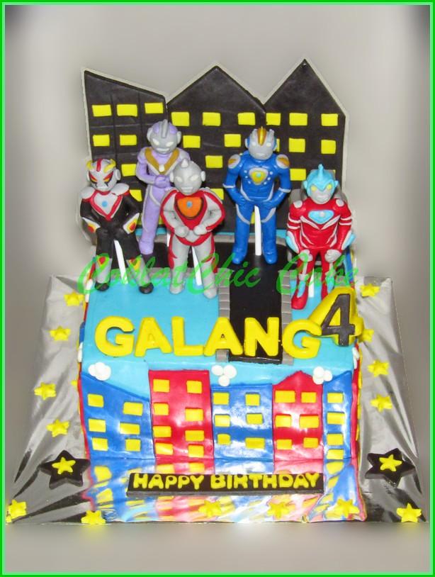 Cake Ultraman GALANG 15 cm