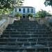 Saint-Louis, Maison Rouge : l'escalier et la maison de maître