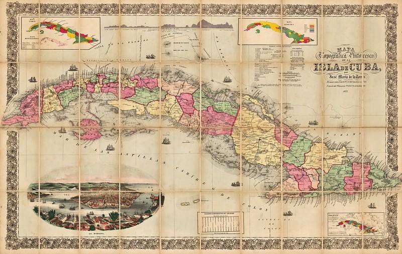Jose Maria De La Torre - Mapa Topografica Pintoresco de la Isla de Cuba (1873)