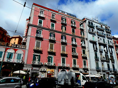 Mansions at Via Giordano Bruno at Mergellina in Naples