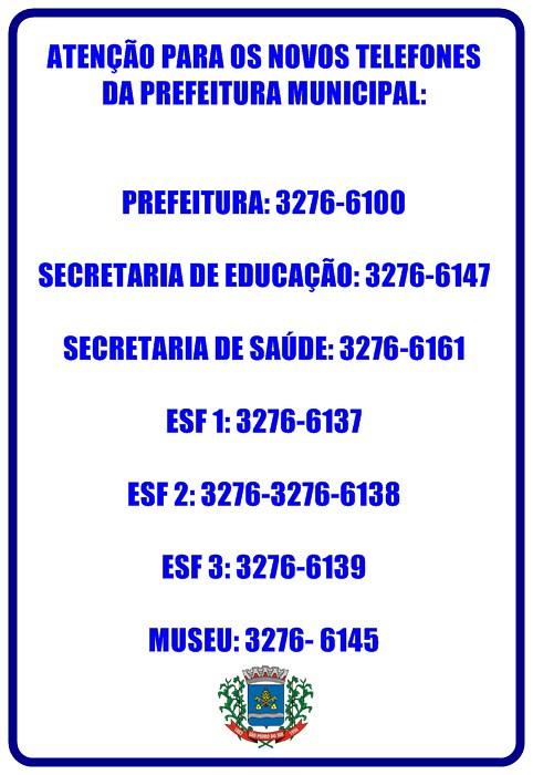 telefones prefeitura