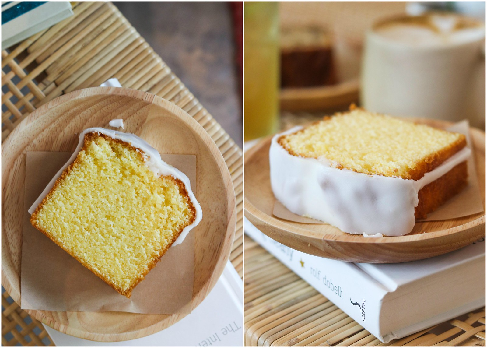 butter cake collage
