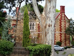 Adelaide. Burnside.Clifton Manor house. Built in 1852. Gothic battlements added in 1870s.