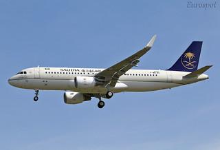F-WWBU Airbus A320 Saudia