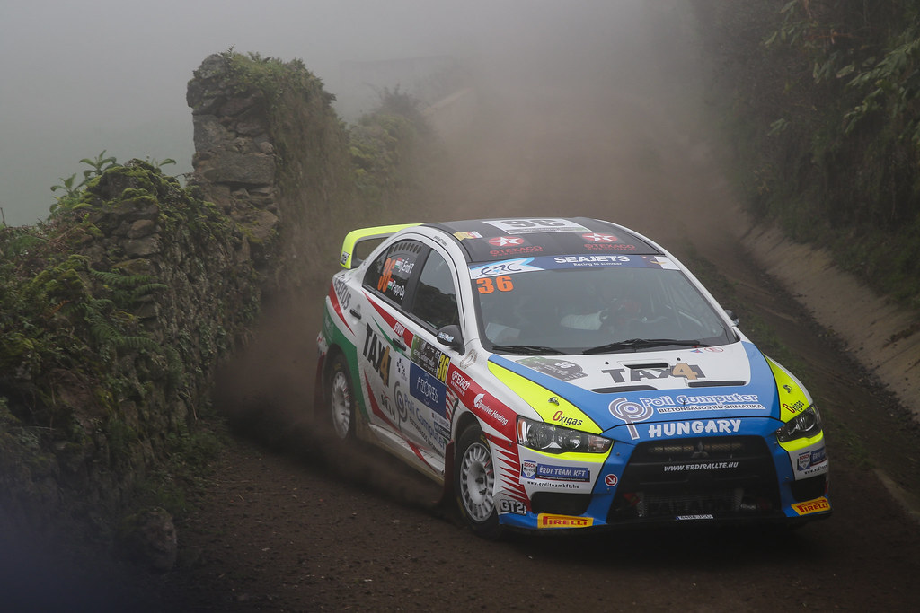36 ERDI jr  TIBOR (hun), PAPP Gyorgy (hun), MITSUBISHI LANCER during the 2018 European Rally Championship ERC Azores rally,  from March 22 to 24, at Ponta Delgada Portugal - Photo Jorge Cunha / DPPI