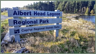 Albert Head Lagoon Regional Park sign