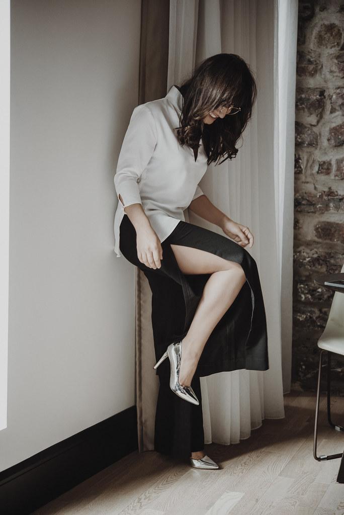 Camille Dg, look noir et blanc, avril 2018, lookbook 2