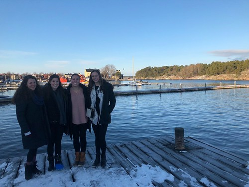 Courtney Mitchell '19 (majoring in International Relations and Economics) in Stockholm with the Swedish Program
